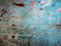 Old wood with blue paint pattern texture Royalty Free Stock Photography
