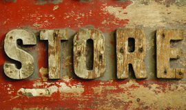 Old wood board store Royalty Free Stock Photography