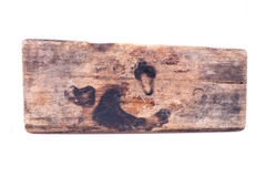 Old wood board weathered isolated Royalty Free Stock Photos