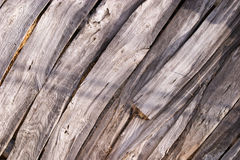 Old wood boards. With shadow across the textured surface Stock Images