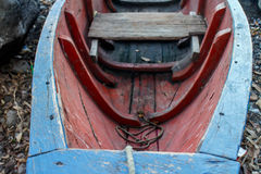 Old wood boat in detail Stock Photo