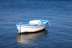 Old wood boat at a Mediterranean sea(Greece) Stock Images