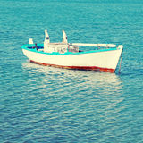 Old wood boat at a Mediterranean sea(Greece) Royalty Free Stock Photography