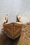 Old wood boat sank on bank Stock Photography