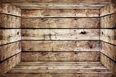 Old wood box. Inside of old wood box Stock Image