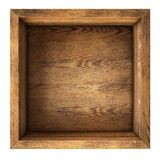 Old wood box top view isolated Stock Photos