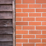 Old wood and Brick Wall Royalty Free Stock Images