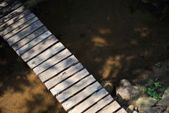 Old wood bridge Stock Photo