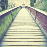 Old wood bridge Stock Images