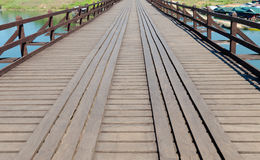Old wood bridge point of view Stock Photography