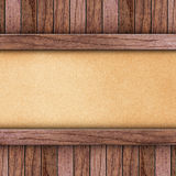 Old wood on brown paper Royalty Free Stock Image
