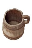 Old wood bucket. Isolated, storage, vintage, ancient bucket Stock Image