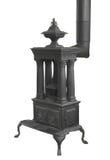 Old wood burning heater stove isolated Royalty Free Stock Image