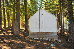 Old Wood Cabin Covered With Canvas Top Royalty Free Stock Images