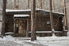 Old wood cabin Stock Photos