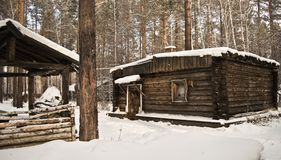 Old wood cabin Royalty Free Stock Image