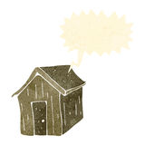Old wood cabin retro cartoon Royalty Free Stock Image