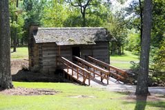 Old Wood Cabin. An old 1800's wooden cabin Royalty Free Stock Image