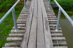 Old wood Canal Bridge Royalty Free Stock Images