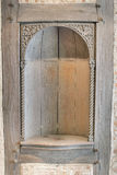 Old Wood Carved Exterior Wall Niche Royalty Free Stock Photo