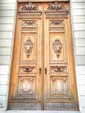 Old Wood Carving Door Background royalty free stock image