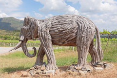 Old wood carving elephant Royalty Free Stock Photos