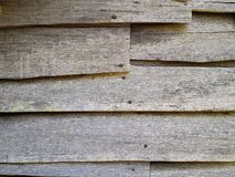 Old wood clapboard siding on abandoned house Royalty Free Stock Image