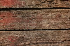 The old wood color is gliding off. Through long used Royalty Free Stock Photography