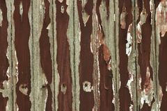 The old wood color is gliding off. Through long used Royalty Free Stock Images