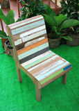 Old wood colorful chair Royalty Free Stock Photo