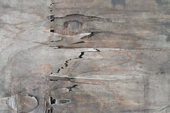 Old wood cracked background, swollen damage Royalty Free Stock Photos