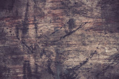 Old wood cracked background, swollen damage Stock Image