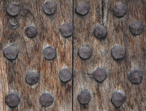 Old wood cracked rusty metal background Stock Image