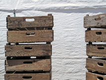 Old Wood Crates with White Background stock photo