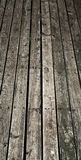 Old Wood Decking. A slight perspective view of old wooden planks used in outdoor decking Royalty Free Stock Photos