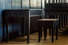 Old Wood Desks. Stock Photos