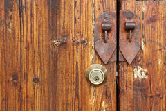 Old wood door. Key hole Royalty Free Stock Photo