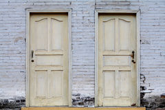 Old wood door Stock Images
