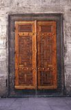 Old wood door. Sultanahmet mosque old wood door. Old wood door concept. Wooden door royalty free stock photography