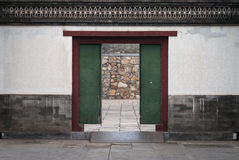 Old wood door in china Royalty Free Stock Photo