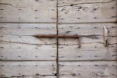 Old wood door closeup Stock Photography