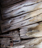 Old wood door closeup Stock Photography