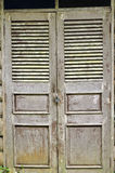 Old wood door. Old door in country side of thailand Stock Photography