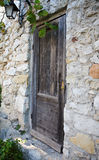 Old Wood Door in Eze Royalty Free Stock Photos
