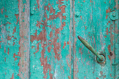 Old wood and door handle Royalty Free Stock Photo