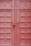 Old wood door and lock Stock Photography