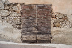 Old wood door. Old ruin wood door texture pattern Royalty Free Stock Image