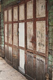 Old wood door. The old wood door in slum bangkok stock image