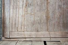 Old Wood Door with Termite. Termite trespass in the wood old door Stock Photography