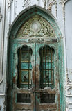Old Wood Door With Stucco Cement Wall Royalty Free Stock Photos